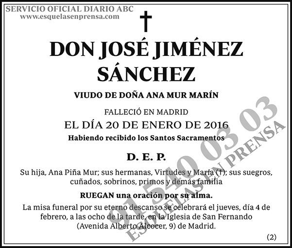 José Jiménez Sánchez